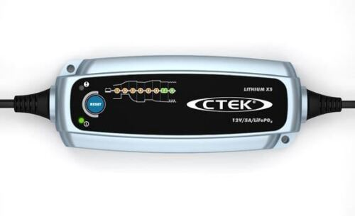 CTEK Litio Xs 12v 5a Smart Cargador de batería para Lifepo4 Baterías 8 fase