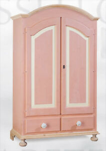 Arredamento Armadio 2 Ante Massello Rustico Cameretta Rosa Personalizzabile Careful Calculation And Strict Budgeting