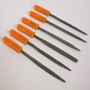 6-PC-FINE-FILE-SET-WARDING-ENGINEERS-PRESICION-BENCH-WORK-METAL-PLASTIC-WOOD-NEW