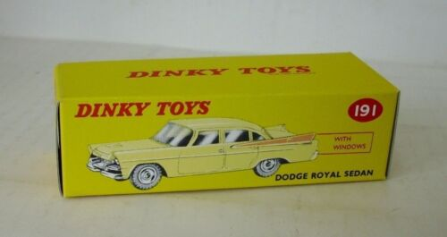 191 DODGE ROYAL SEDAN REPRO BOX DINKY n
