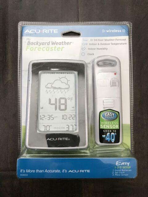 acurite wireless my backyard weather forecaster 00833 acu rite rh ebay com