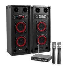 PROFI STEREO KARAOKE ANLAGE PA LAUTSPRECHER BOXEN USB SD MP3 PLAYER 2 FUNK MIKRO