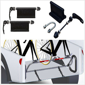 Pair-bicycle-block-quick-release-fork-mount-Pickup-Truck-Bed-Rack-Carrier-Holder