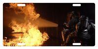 Firefighter Custom License Plate Fire Department Emblem Fire Version