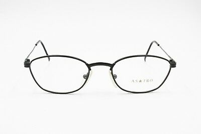 Vintage Black Reading Glasses Optical Frame, Astro Made In Italy, Trapezoidal