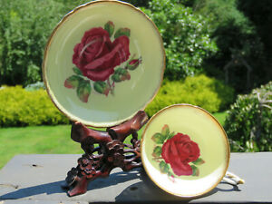 Paragon-Cup-Saucer-Double-Warrant-CABBAGE-ROSE-Signed-R-Johnson-YELLOW