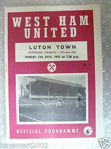 1959-WEST-HAM-UNITED-v-LUTON-TOWN-13th-April-League-Division-One