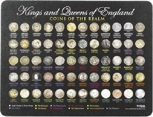 Kings and Queens of England Coins Mouse Mat - England, United Kingdom - Kings and Queens of England Coins Mouse Mat - England, United Kingdom