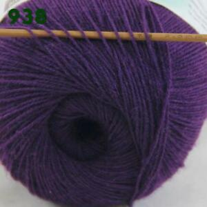 Sale-1-Skein-x50gr-LACE-Soft-Crochet-Acrylic-Wool-Cashmere-hand-knitting-Yarn-38