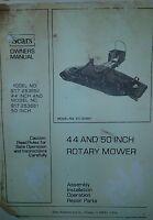 Sears Ff 18, 20 & 24 Lawn Garden Tractor Mower Decks Operating & Parts Manual