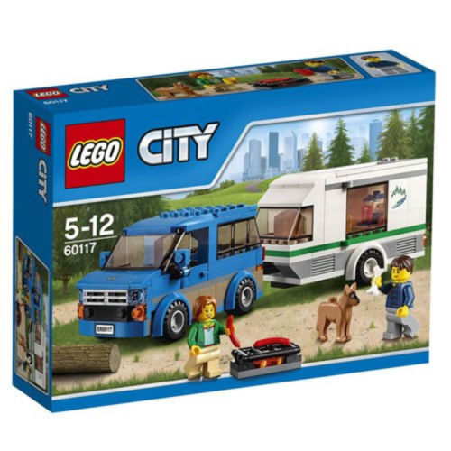 LEGO 60117 City Great Vehicles Van and Caravan Toy 5-12 Years BNIB Free UK p+p