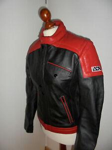 IXS-Motorradjacke-Bikerjacke-vintage-oldschool-80s-Biker-Lederjacke-Gr-48