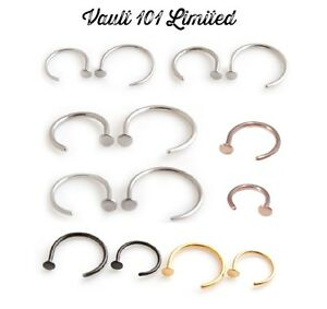Nose-Lip-Ring-Hoop-Stud-Surgical-Steel-Gold-Black-Rose-Various-Sizes-and-Gauges