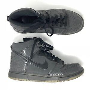save off a0fcb 4373c Image is loading Rare-Mens-Nike-Dunk-High-Reflective-Black-Crocodile-