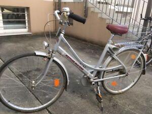 Kettler-Alu-Rad-2600-26-Zoll-silber-City-Bike-guter-Zustand