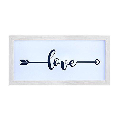 """Blanc en Bois /""""Love/"""" avec flèche lightbox Frame-Idéal pour les mariages /& Home"""