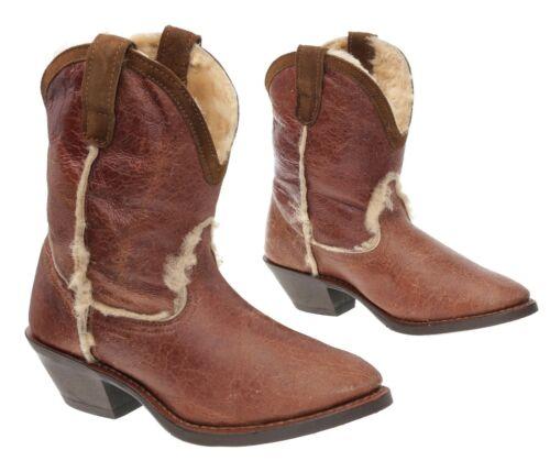 DINGO Cowboy Boots 6.5 M Womens VTG Shearling Fur
