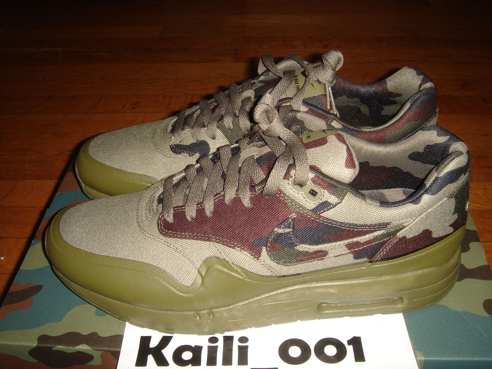 Nike Air Maxim 1 France SP Size 12 Max 607473-200 Camo B