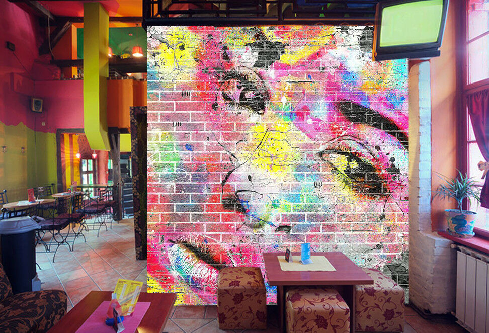 3D Girl Face 45 Wallpaper Murals Wall Print Wallpaper Mural AJ WALLPAPER UK