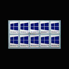 10 x Windows 10 Adesivo Logo Sticker etichetta desktop e notebook in HD Quality