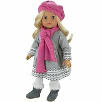 Toddler Toy Doll Clothes 4 Pc. Outfit Fit For 18 American Girl Dolls & More Gre