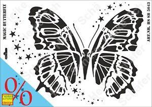 Schablone-Stencil-A3-292-5043-Magic-Butterfly-Neu-Heike-Schaefer-Design