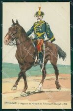 Military Russia Russian Soldier Horse Robiquet Tchernigoff postcard XF3617
