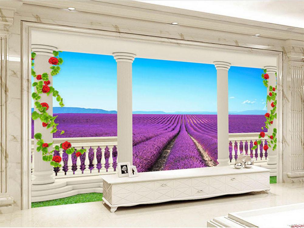 Dream Flower Field 3D Full Wall Mural Photo Wallpaper Printing Home Kids Decor