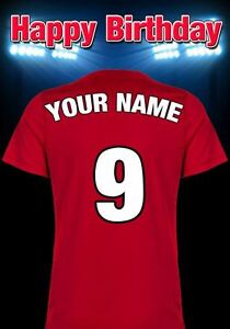 best website cc827 0b0f0 Details about A5 Personalised Manchester United Shirt Football Greeting  Birthday Card PIDMFF11