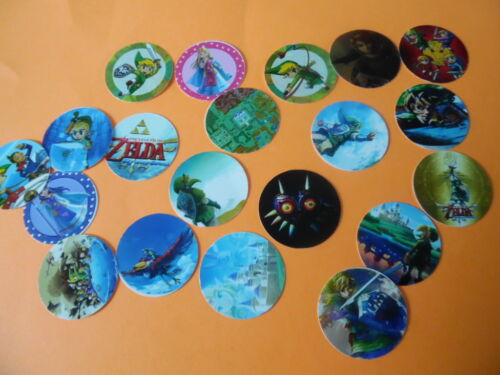 Pre Cut One Inch Bottle Cap Images ZELDA Free Shipping