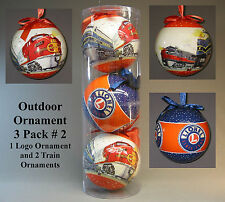LIONEL OUTDOOR ORNAMENT THREE PACK # 2 ornaments  train christmas bulb 9-21022