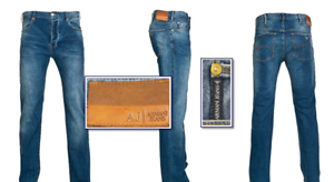 ARMANI JEANS J21 Stretch Cotton Blend Regular Fit bluee Jeans NEW NWT