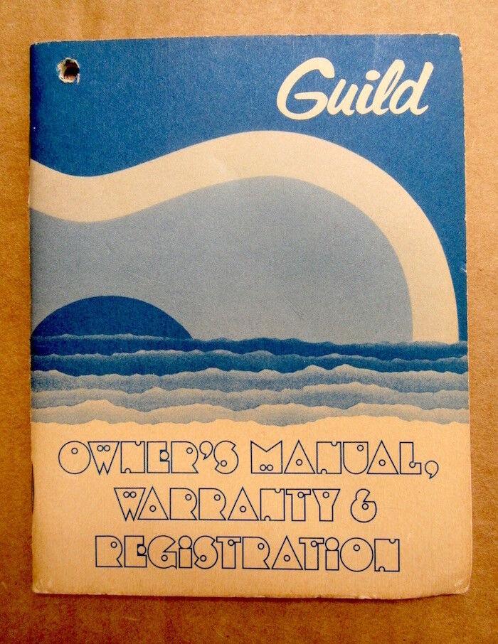 1970's Guild F-40 Blonde Guitar Owners Manual Hang Tag