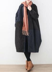 Oversize Striped Outwear Fashion Kvinders Blandede Farver Parka Jacket Thicken Cotton F5IAqUAxw