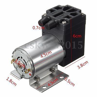 DC12V Mini Vacuum Pump Negative Pressure Suction Pump120kpa 5L/min With Holder