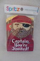 Boy Pirates Captain Birthday Party Invitations With Thank You Notes