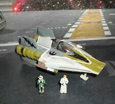 STAR WARS ACTION FLEET ROGUE SQUADRON COLORS GREEN A-WING STARFIGHTER +2 FIGURES