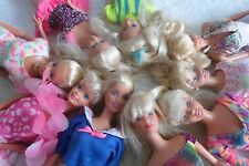 Barbie Large Lot Of Vintage 1990's Face Dressed Dolls