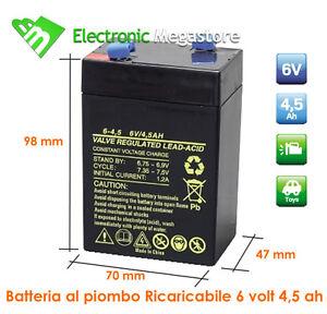 Batterie Per Lampade Di Emergenza.Dettagli Su Batteria Ricaricabile Per Lampade Di Emergenza Beghelli 6 Volt 4 5 Ah Al Piombo