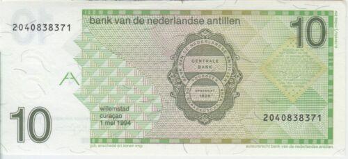 We Combine AU-UNC Netherlands Antilles banknote P23c 10 Gulden 1.5.1994