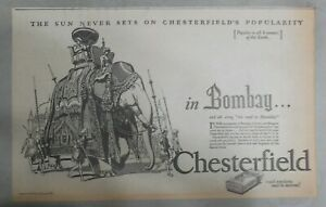 Chesterfield-Cigarette-Ad-Travel-Bombay-India-from-1927-Size-10-x-16-inches
