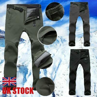 Men Windproof Waterproof Thick Fleece Thermal Trouser Tactical Hiking Long Pants
