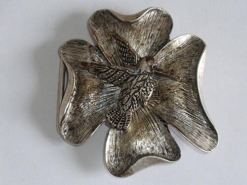 Gürtelschnalle Schließe Schnalle Buckle 4,2 cm altsilber NEU rostfrei 0386