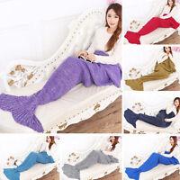 Super Soft Hand-Crocheted- Mermaid -Tail Blanket Sofa Blanket ADULT 195*85 cm