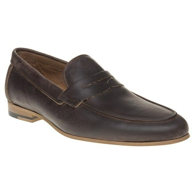 New Mens SOLE braun Ebson Leather Leather Leather schuhe Loafers And Slip Ons On 710ddd