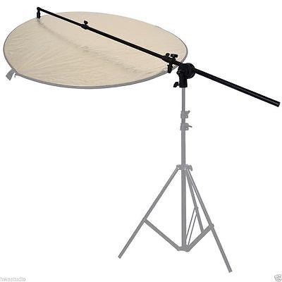5FT PRO PHOTO STUDIO DISC REFLECTOR HOLDER C HOLDING BOOM ARM EXTENDABLE