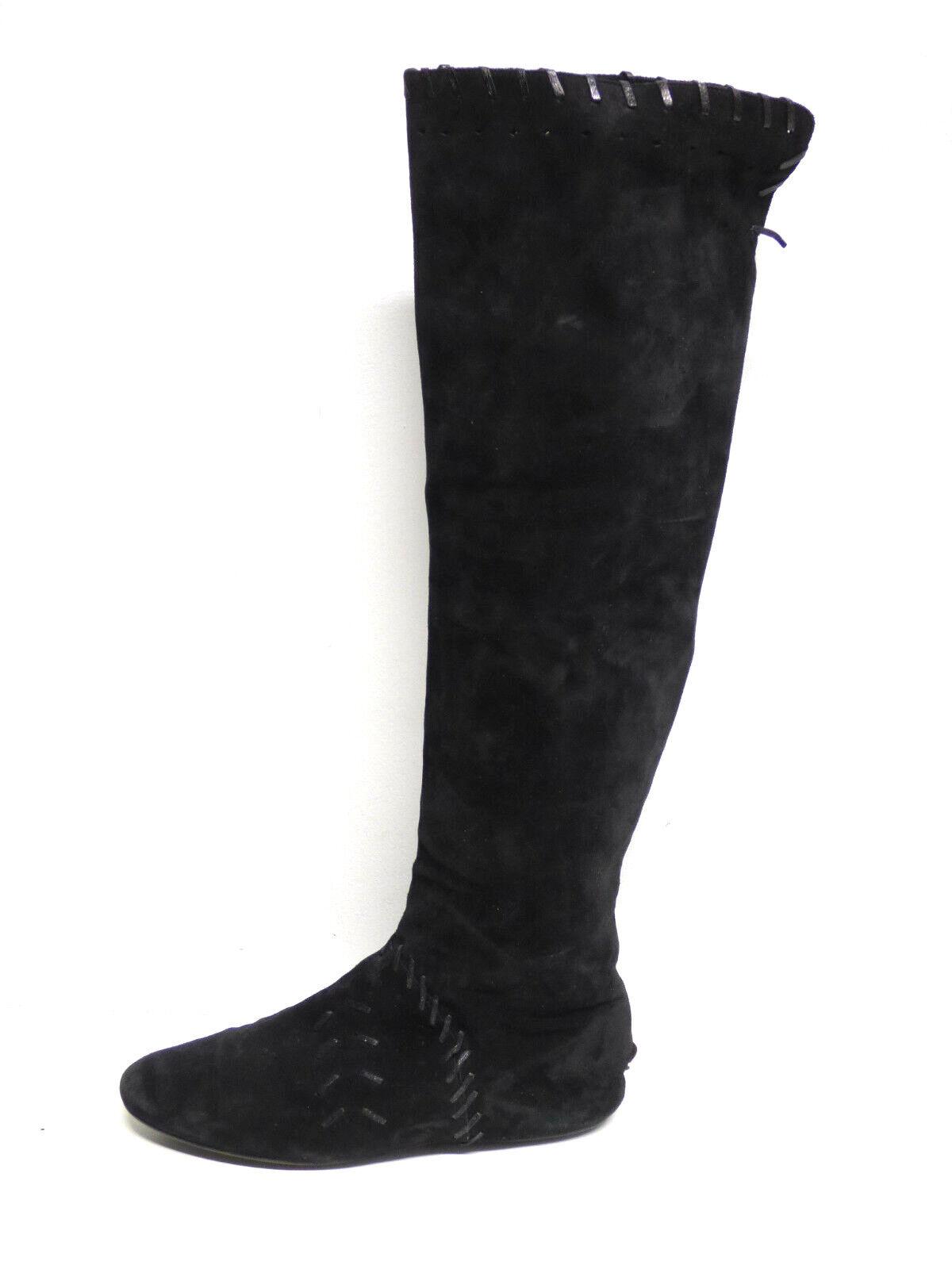 Jimmy Choo Femmes Bottes en cuir T 38,5 NOIR & 100% véritable cuir (P 6288)