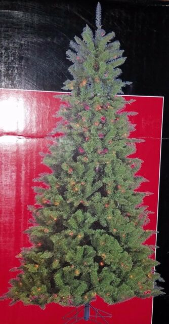 Trim A Home 7 5 Multicolor Pre Lit Mountain Spruce Christmas Tree 88b