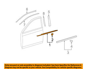 Image Is Loading TOYOTA OEM Avalon Door Window Sweep Belt Molding