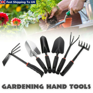 Am-tech 7pcs Gardening Tools Set Rake Fork Hoe Cultivator Trowel Kit